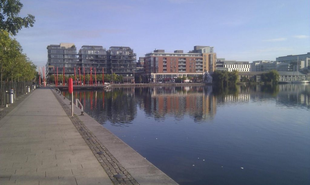 Sunny Docklands at Grand Canal Basin