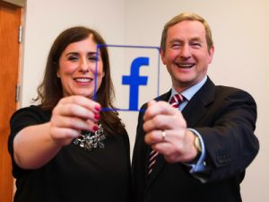 Sonia Flynn and Enda Kenny at Facebook EMEA HQ - in Dublin's Docklands