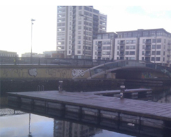 Before Shot - The graffiti on the McMahon Bridge just before the Docklands Volunteer Day