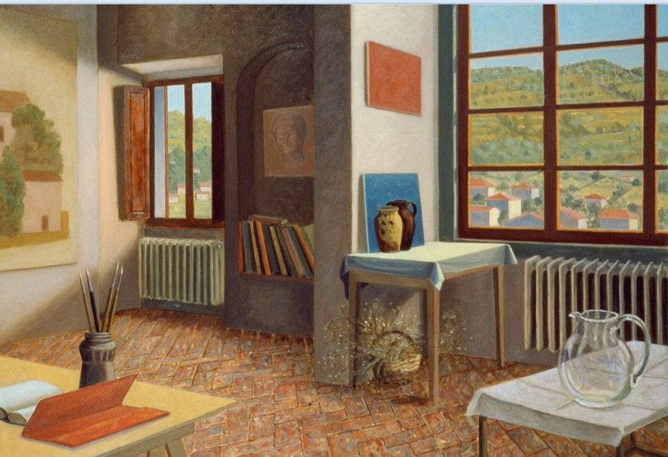 Stephen McKenna, Interior with Red Folder, AIB Bank Art Collection