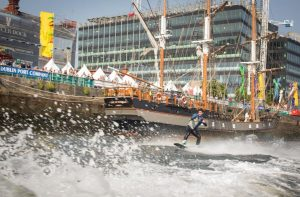 Wakeboarding at Dublin Port Riverfest LR