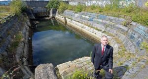 CEO, Alan Robinson at the Graving Docks.