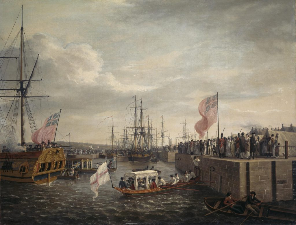 William Ashford (1746-1824) the Opening of the Ringsend Docks