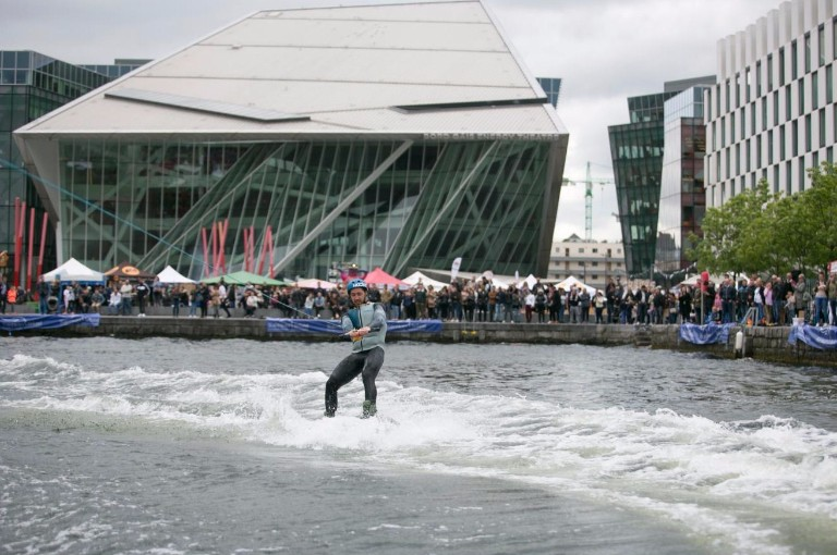 The Grand Canal Basin is an ideal venue for high speed water sports in the centre of Dublin City.
