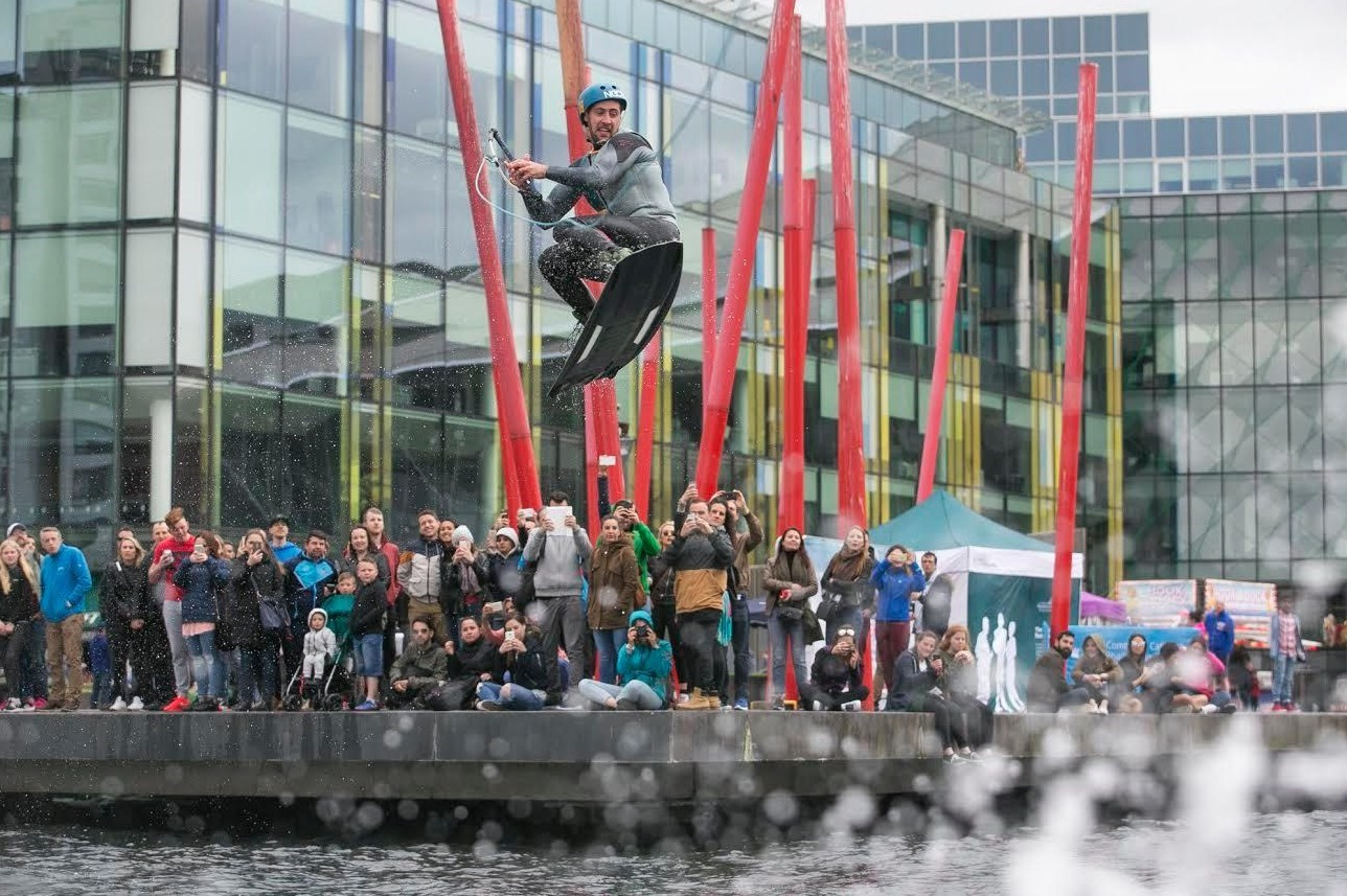 Riding the waves. Paul Johnson from Belfast demonstrates one of Ireland's fastest growing sports.