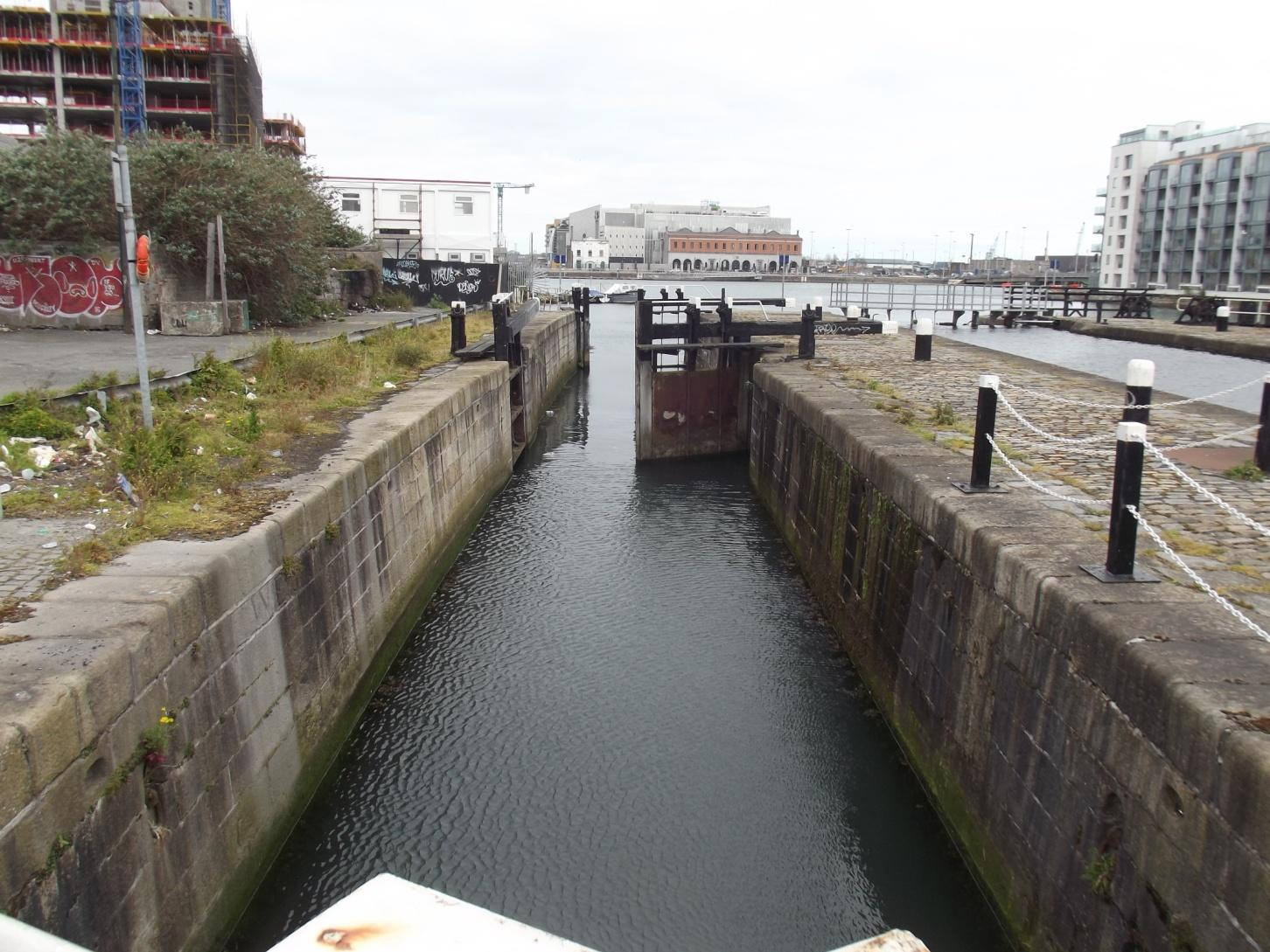 The Westmoreland Lock Gate was filled with a skip load of refuse before it was removed by our volunteers