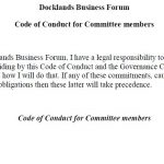 Docklands Business Forum Code of Conduct for Committee Members