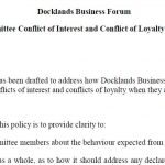 Docklands Business Forum Committee Conflict of Interest and Conflict of Loyalty Policy