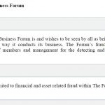 Docklands Business Forum Fraud Policy
