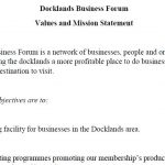 Docklands Business Forum Vision and Mission Statement